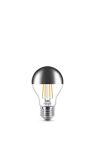 Philips LED classic E27 Lampe, dimmbar, Kopfspiegellampe, 650 Lumen entsprechen 50W, warmweiß (2.700 Kelvin), klar