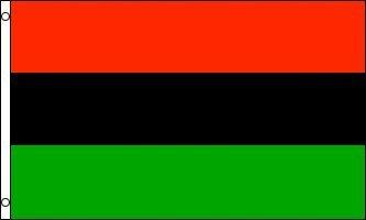 3x5 AFRICAN AMERICAN FLAG, african-american banner, afro-american, afro american, africa negro black heritage