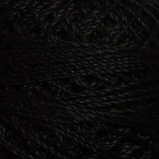Valdani Perle Cotton Size 8 Embroidery Thread, 72 Yard Ball - 1 Black