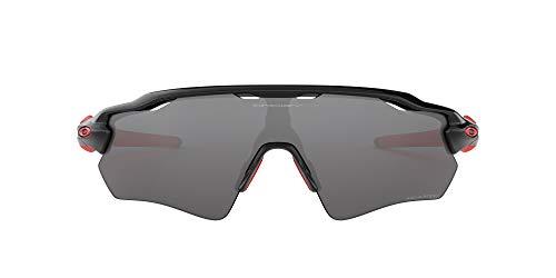 Oakley Men's Radar Ev Path (a) 0OO9275 Polarized Iridium Rectangular Sunglasses, POLISHED BLACK, 35 mm