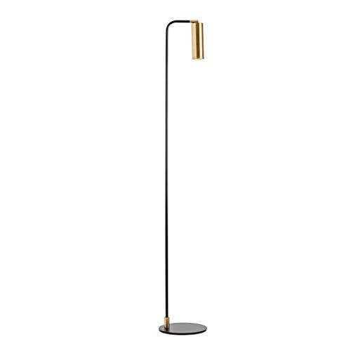 Lampes de chevet Lampadaire Salon Chambre Chevet Lampadaire Étude Personnalité Creative Lamp Simple Moderne Lampadaire en Métal (Color : Gold, Size : 24 * 155cm)