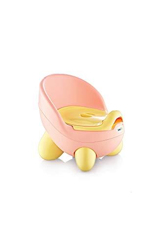 BABYJEM Töpfchen für Kinder, Potty, Toilettensitz mit Rückenlehne, Kinder Toilettensitz, Toilettentrainer, Kindertoilette, Rutschfest, Bequem, Rosa