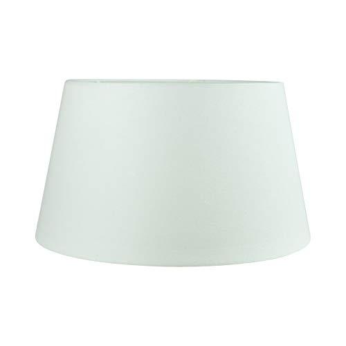 Wogati Premium Lampenschirm 35 cm(U) x 27 cm(O) x 20 cm(H) / Tischleuchte / Stehlampe / Weiß / Stoff /Oval rund/ E27 / E14/ inkl. Adapter