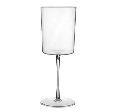 6 copas de vino de plástico reutilizables de diseño moderno y elegante, 310 ml