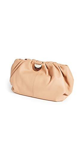 Loeffler Randall Women's Analeigh Oversized Gathered Clutch, Dune, Tan, One Size