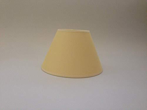 Lampenschirm, 20,3 cm, Baumwolle, handgefertigt, Gelb