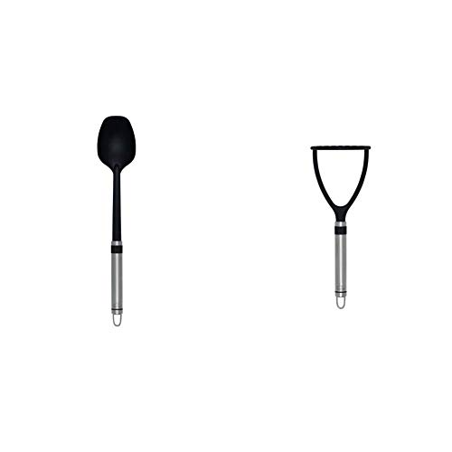 Brabantia Profile Line Vegetable Spoon, Non Stick & Profile Line Potato Masher, Non Stick