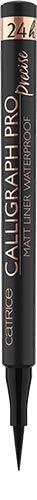 Catrice Calligraph Pro Precise 24h Matt Liner Waterproof, Eyeliner, Eye Liner, Nr. 010 Intense Black Waterproof, schwarz, definierend, matt, intensiv, wasserfest, vegan, ohne Parfüm (1,2ml)