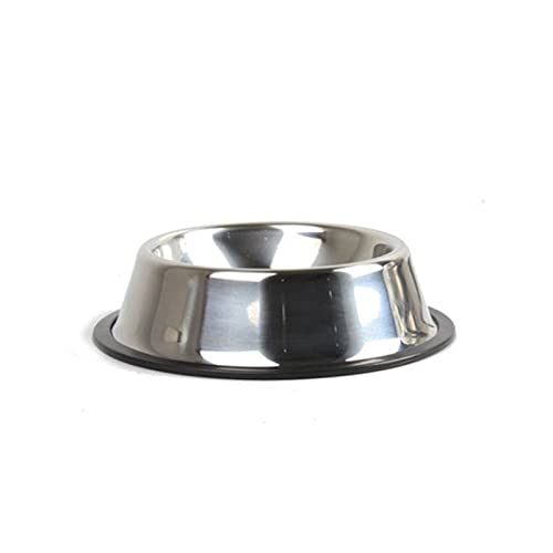 YUZHUKUNGMZCWW Comedero Gato, Cuenco de Perro de Acero Inoxidable de Acero Inoxidable Alimentador de alimentación Cuenco para Perros domésticos para Perros Puppy Cachorro de Comida Plato de Agua