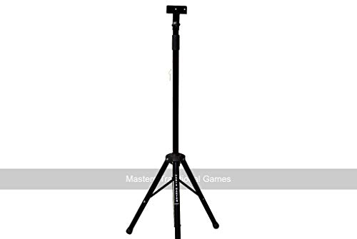 Darts Master Dartboard Stand - Portable Telescopic Tripod Dartboard Mount Steel Stand with Fixings...