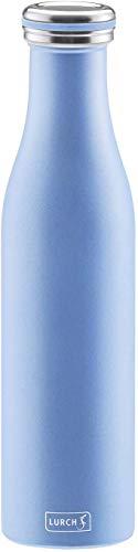 Lurch 240960 Thermo-Flasche für heiße und kalte Getränke aus Doppelwandigem Edelstahl, 0,75l,