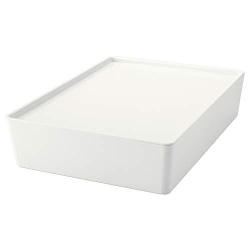 IKEA.. 502.823.04 Kuggis Box mit Deckel, weiß