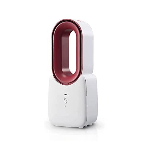 QTWW Ventilador sin aspas, Ventilador eléctrico 2 en 1, Ventilador Multifuncional sin aspas, Ventilador de Escritorio portátil para el hogar, 3 Modos para el hogar, Oficina, Dormitorio, Blanco