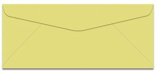 Earthchoice Canary No 10 (4-1/8-x-9-1/2) Envelopes 500-pk - 089 GSM (24/60lb Text) PaperPapers Holds Letter Paper Folded 3-Way Econo Standard #10, Professional and DIY Business Envelopes