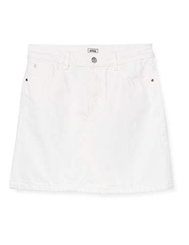 Pimkie Pbs20 K-Denim Faldas Casuales de Mujer, White/Snow White/Uni/Allover/Blanc, 40