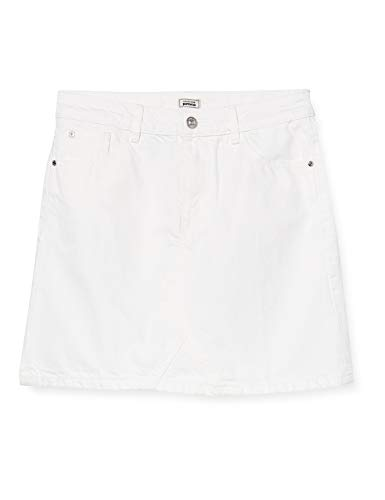 Pimkie Pbs20 K-Denim Faldas Casuales de Mujer, White/Snow White/Uni/Allover/Blanc, 40