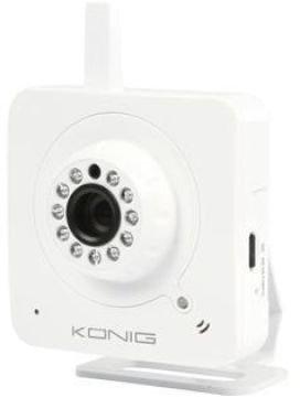 König SEC-IPCAM100W - Cámara de vigilancia (Cámara de seguridad IP, Interior, Blanco, 39,3°, 26,8°, CMOS)