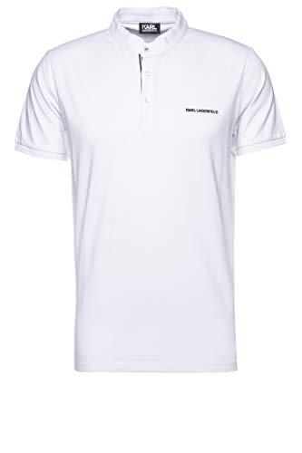 Karl Lagerfeld Herren Poloshirt Weiß M