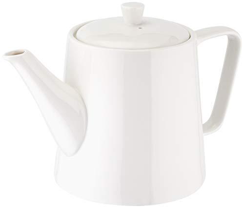 Judge Essentials, teiera per servizio da tè tradizionale in porcellana bianca, Porcellana, 6 Cup / 1.1Lt