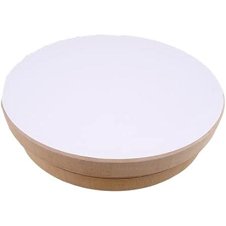 Tour de potier 20 cm de diamètre, Roue de potier adulte enfant manuel pas cher debutant occasion poertie de agile hauteur 5 cm MDF platine tourne-disque pour poterie art bricolage | KUNSTIFY