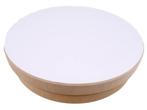 Ruota del vasaio ceramica ruota rotondo 20cm di diametro, altezza 5 cm MDF giradischi per l'arte della ceramica fai da te artigianato argilla figure ciotole ceramiche