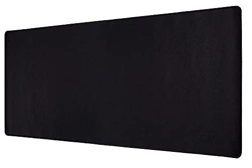 GOMIN Mauspad XXL – 900 x 400 mm Gaming Mauspad rutschfest - Vernähte Kanten - verbessert Geschwindigkeit und Präzision, Schreibtischunterlage für PC, Laptop, Homeoffice und Büro – Mousepad schwarz