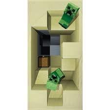 Handdoek douchehanddoek strandlaken Minecraft MNC022 70x140 cm 100% katoen