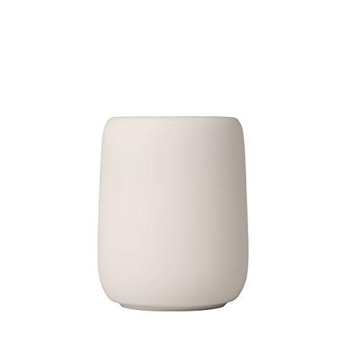 Blomus Sono Zahnputzbecher, Keramik, Silikon, Moonbeam, H 11 cm, Ø 8,5 cm, V 0,3 l