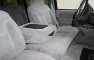 Durafit Seat Covers 1995-2000 Chevy Silverado and GMC Sierra Front 60/40 Split Bottom with Bucket Backrests. Opening Console and Electric Lumbar. Made in Gray Leatherette
