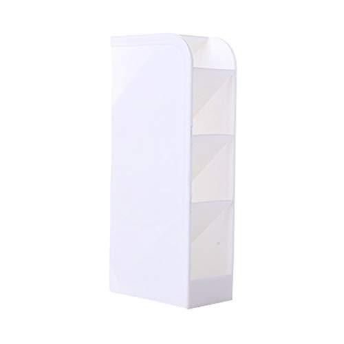 Kurphy Organizador de escritorio ergonómico de cuatro rejillas para cajón femenino rectangular organizador de papelería - Blanco S