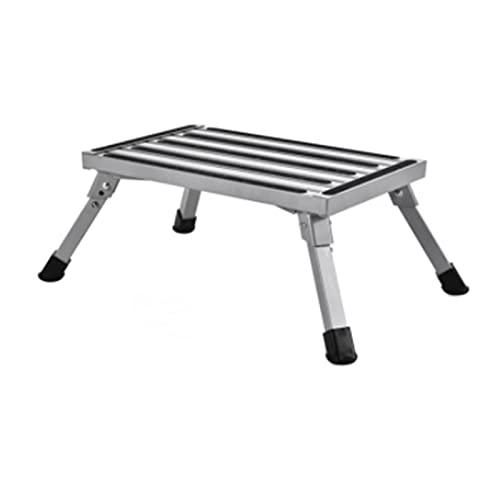 Heerty RV Plataforma Paso Taburete Ajustable Altura de Aluminio Plegado para el hogar GarageTruck o Van Soporta Accesorios de 1000 Libras de caravanas (Color : Outdoor Chair)