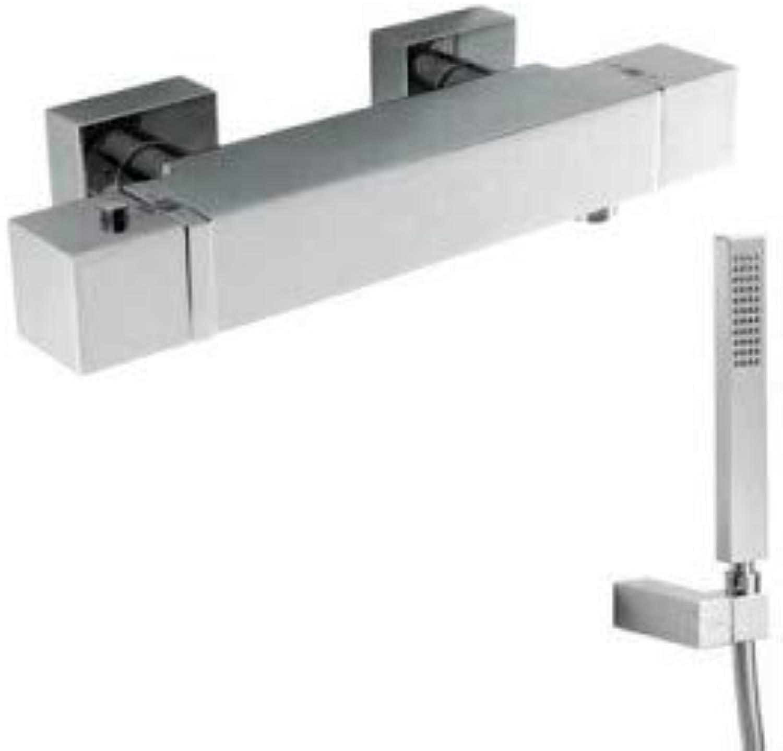 Drei Armatur m259591–Wasserhahn termostatico Dusche slim-cuadro Drei mit Flexo Satin 20216409