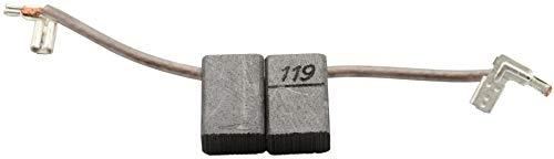 Escobillas de carbón Buildalot Specialty ca-03-90405 para Makita Cortasetos UH6310A - 6x10x15 mm - Con resorte, cable y conector - Reemplaza partes CB-119