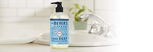 Mrs. Meyer's Clean Day Liquid Hand Soap, Cruelty Free and Biodegradable Hand Wash Made with Essential Oils, Rain Water Scent, 12.5 oz - Pack of 3