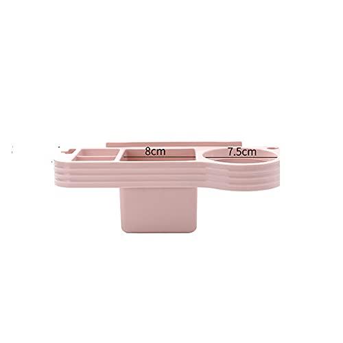 Soporte para secador de Pelo Manos Libres Caja de Almacenamiento Estante de rizador para baño Organizador Estante de Almacenamiento Conjunto de Accesorios de baño Hogar - Rosa A, r1