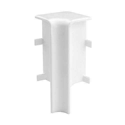 Trevendo® 10 Stück Innenecke weiß für Sockelleiste Fußleiste 58 mm und 60 mm Höhe
