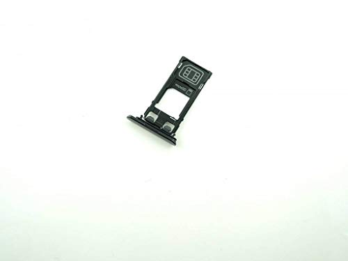 Handyteile24 ✅ Simkarten Halter Holder für Sony Xperia XZ F8331 SIM Speicherkarten Schwarz 1304-9102