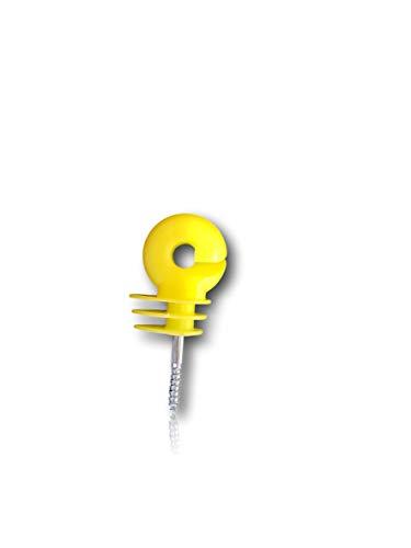 Pferdelinis Weidezaun Isolatoren mit extra stabilem Gewinde – breiter Schlitz für Weidezaunseil, Litze, Breitband, Draht – 50x Ringisolatoren ideal für Weide (50 Stück)