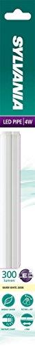 Sylvania SYL0051000 Réglette LED, Polycarbonate, Intégré, 4 W, Blanc, 30 x 2, 4