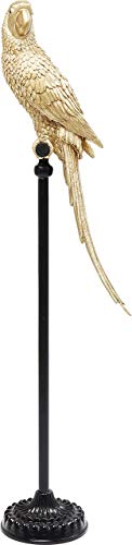 Kare Design Deko Figur Parrot Gold, Papagei Deko, Dekoobjekt Vogel, 116cm