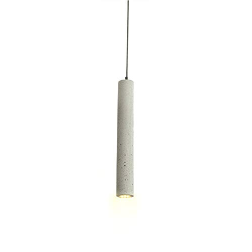 Ganeep LED personalità 1 Confezione moderna luci a sospensione creativa retrò lampada industriale Calcestruzzo Cemento Cilindro tubi da cucina Luci negozio Bancone Isola Lighting
