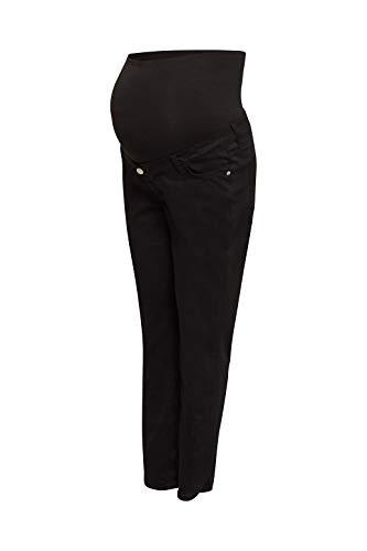 ESPRIT Maternity Damen Pants OTB 7/8 Slim Umstandsjeans, Schwarz (Black 001), W33 (Herstellergröße: 44)
