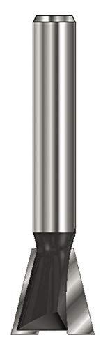 ENT 15966 Gratfräser HW (HM), Schaft (C) 8 mm, Durchmesser (A) 14,3 mm, B 12,7 mm, E 14°, D 32 mm, ohne Vorschneider