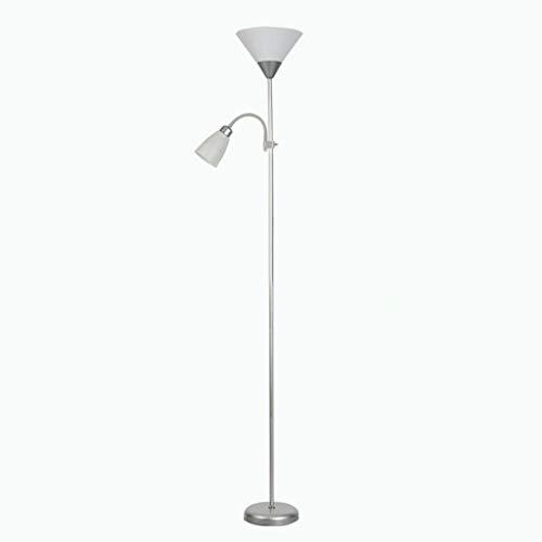 Lámpara de pie Piso Torchiere lámpara, lámpara de lectura de pie, de 2 maneras Madre/Padre Parent & Child iluminación ascendente y Spotlight Diseño - Completo con 2 x 5W luz caliente