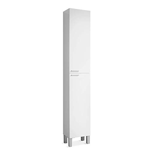 ARKITMOBEL 305260BO - Koncept Mueble de lavabo con 2 puertas, 30 x 182 x 25 cm, color Blanco Brillo