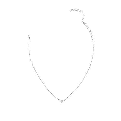 Cadena De Clavícula Gargantilla Tiny Simple Joyería Colgante Delicado Del Corazón Collar Femenino Clavícula Gargantilla