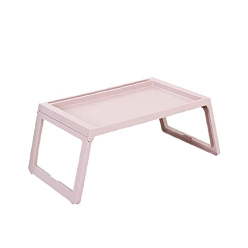 Laptop Desk Plastic Multifunction Table Foldable Bed Sofa Laptop Stand Home Use Height Adjustable Folding Table Pink