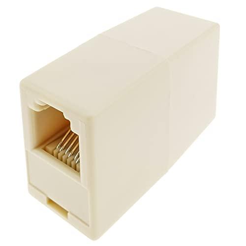BeMatik - Empalme Cable Telefónico RJ11/RJ12 H/H (6P6C)