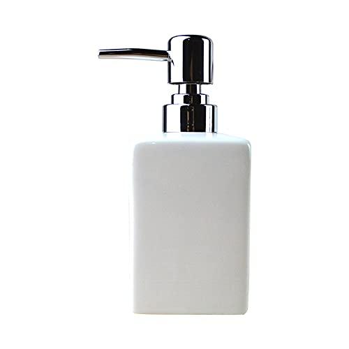 Square Dosificador Jabón - Cerámica Dispensador de jabon liquido Desinfectante de la Mano de la Botella de Artículos de Tocador de Baño Simple Creativo Emulsión Dispensador