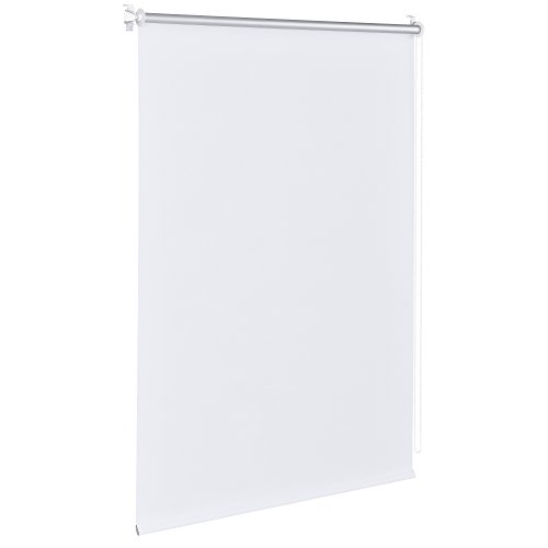 [Neu.Haus] Cortina Enrollable - 50x175cm - Blanco - no Necesita taladrar